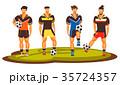 サッカー フットボール 蹴球のイラスト 35724357