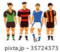 サッカー フットボール 蹴球のイラスト 35724373