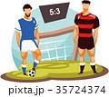 ベクトル サッカー 目標のイラスト 35724374