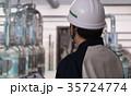 工場 ヘルメット 保守管理の写真 35724774