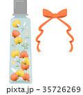 ハーバリウムのイラスト(角型瓶・オレンジ) 35726269
