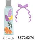 ハーバリウムのイラスト(角型瓶・紫) 35726270