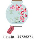 ハーバリウムのイラスト(丸型・ピンク) 35726271