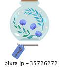 ハーバリウムのイラスト(丸型・青) 35726272