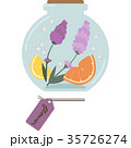 ハーバリウムのイラスト(丸型・紫) 35726274