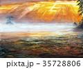 雨晴海岸の気嵐 富山湾 立山連峰 35728806