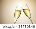 シャンパン スパークリングワイン 乾杯の写真 35730349