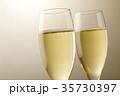 シャンパン スパークリングワイン ワインの写真 35730397