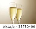 シャンパン スパークリングワイン ワインの写真 35730400