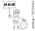 クリスマス サンタ サンタクロースのイラスト 35730451