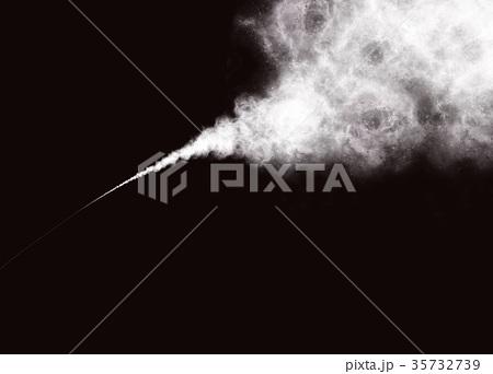 Abstract White Smoke or Powder on Black Background 35732739
