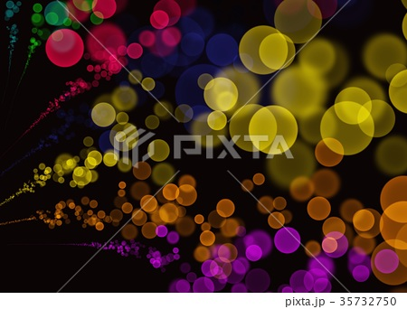 Colorful Abstract Bokeh Bubbles Black Background 35732750