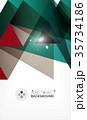 トライアングル 三角 三角形のイラスト 35734186