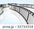 特寫電影 / 攝影 35mm 底片模板,向量3D元素 35734358