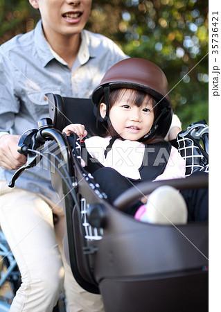 自転車 (子供 送迎 送り 迎え 二人乗り 電動アシスト自転車 二人乗り パパ 父親 ファミリー) 35736421