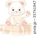 クマのぬいぐるみ テディベア テディーベアのイラスト 35741947