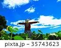 新座市総合運動公園の本多の森お花畑(かかしの風景) 35743623