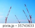 タワークレーンと青空の風景 35743633