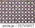 家紋パターン 丸に四つ割り菱 35743657