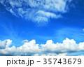 青空と白雲 35743679