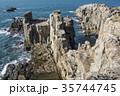 東尋坊 柱状節理 海の写真 35744745