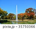 代々木公園 紅葉 秋の写真 35750366