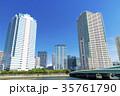 タワーマンション 青空 高層ビルの写真 35761790