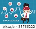 Flat design stock exchange on candlestick chart 35766222