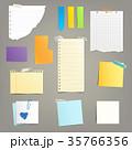 貼り紙 シール ステッカーのイラスト 35766356