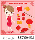 マンガ 漫画 チャイナドレスのイラスト 35769458