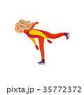 ベクトル スケート スポーツのイラスト 35772372