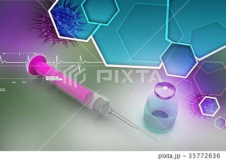 syringe and medicine 35772636