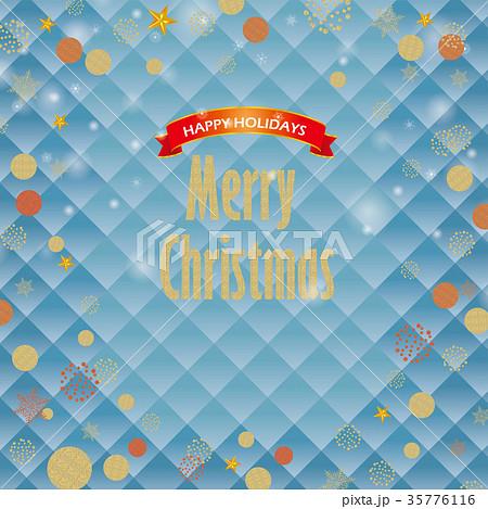 クリスマス向け背景画像水色 風景イラスト Merry Xmas ロゴの