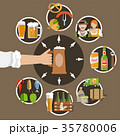 Beer Flat Icons Set 35780006
