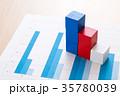 ビジネス 資料 グラフの写真 35780039
