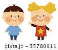 挨拶する子供 35780911