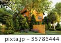 garden of english house 3d rendering 35786444
