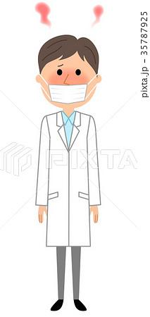 白衣の男性 発熱 35787925
