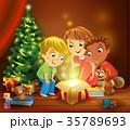 クリスマス プレゼント 贈り物のイラスト 35789693