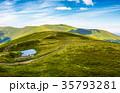 little pond on top of mountain ridge 35793281