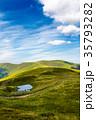 little pond on top of mountain ridge 35793282