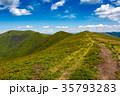 tourist footpath through mountain ridge 35793283
