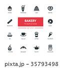 Bakery concept - line design icons set 35793498
