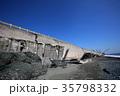 高波で壊れた西湘バイパス 35798332