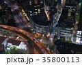 東京 夜景 交差点の写真 35800113