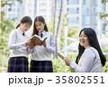 高校生 読書 女性の写真 35802551
