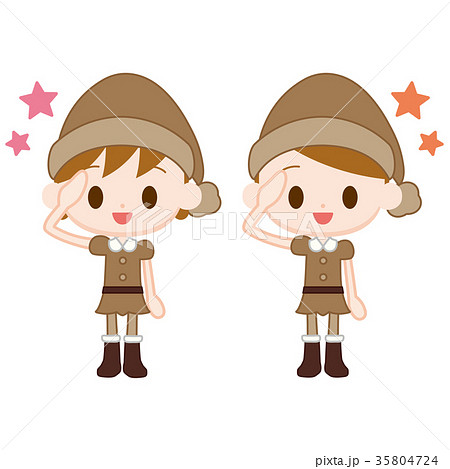 妖精の服を来た男の子女の子 了解ポーズ 35804724