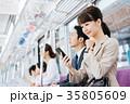 ビジネス 女性 電車 撮影協力・京王電鉄株式会社 35805609