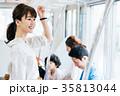 若い女性 電車 撮影協力・京王電鉄株式会 35813044