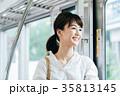 若い女性 電車 撮影協力・京王電鉄株式会 35813145